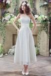 Robe de mariée mi-longue en dentelle  romantique