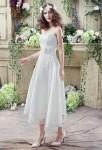 Robe de mariée mi-longue en dentelle - champêtre