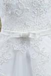 Robe de mariée ceinture fine nœud satin