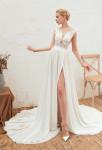 robe de mariée fluide dentelle transparent