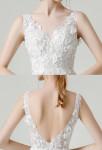 Robe de mariée dentelle à bretelle
