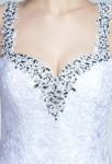 Robe de mariée blanche dentelle à bretelles