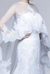 Robe de mariée voile long - detail