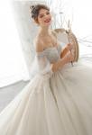 Robe de mariée princesse épaules dénudées