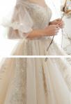 robe de mariée pailletées détail