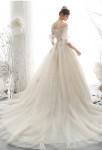robe de mariée pailletée épaules dénudées