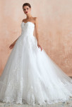 Robe de mariée bustier cœur finition dentelle