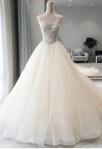 Robe de mariée princesse champagne