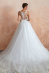 robe de mariée princesse bretelles dos illusion broderie