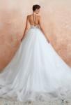 Robe de mariée dos nu jupe avec traîne