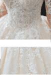 Robe de mariée luxueuse dentelle couleur champagne