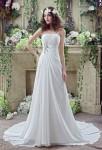 Robe de mariée coupe simple et élégante