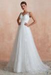 robe de mariée à bretelles décolleté