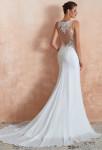 Magnifique robe de mariée sirène dos illusion transparent
