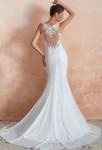 Robe de mariée sirène avec dos transparent orné de dentelle