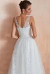 Robe de mariée bohème chic avec le dos decolleté
