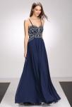 Robe de mariée bleu nuit luxe strass