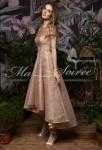 robe de soiree brillant or asymetrique