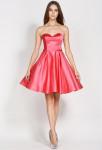 robe courte de soirée bustier cœur corail