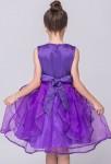 Robe de cérémonie col rond - violet