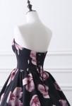 Robe de soirée imprimée florale - laçage dos