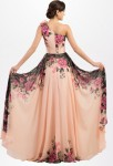 Robe de soirée floral - zoom dos