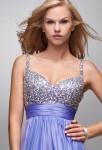 robe de soirée longue bustier recouvert de strass