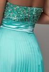 robe de soirée longue plissé bustier
