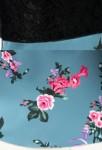 Robe de bal tissus imprimé + dentelle noire