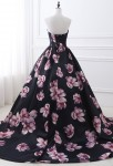Robe du soir imprimée florale
