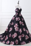 Robe de cocktail imprimée florale