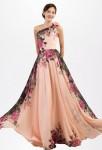 Robe de soirée floral rose