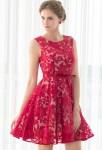 Petite robe rouge dentelle