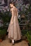robe de soiree sequins paillete or asymetrique
