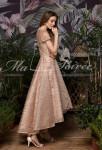 robe de soiree scintillant or asymetrique