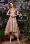 robe de soiree sequins or asymetrique
