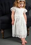 Robe dentelle baptême pour petite fille
