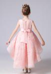Robe de cortège enfant dentelle 3D rose