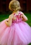 robe de soirée enfant avec nœud dos