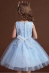 Robe enfant courte bleu pastel pour mariage