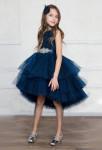 Robe enfant bleu nuit grande fille