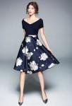 Belle robe de soirée fleurie