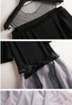 Robe chic noire habillée - détail