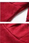 Robe habillée rouge finition perforée