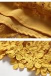 Robe jaune courte - tissus guipure