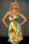 robe de soiree imprimee fleurie