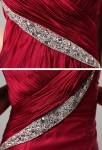 robe de soirée longue rouge asymétrique framboise mariage