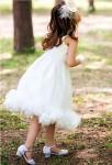 robe de soirée blanche à bretelles et fermeture éclair