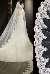 voile de robe de mariée broderie fine