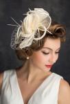 Bibi mariée ivoire chanvre plume